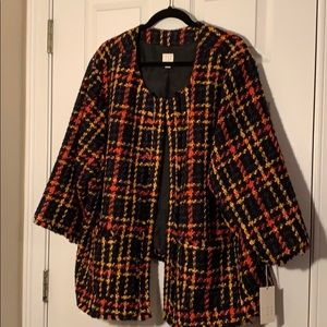 NWT Target A New Day Plaid Jacket 4x